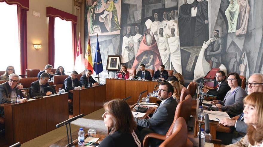 Pleno celebrado este viernes en la Diputación. FOTO: Diputación de Ciudad Real