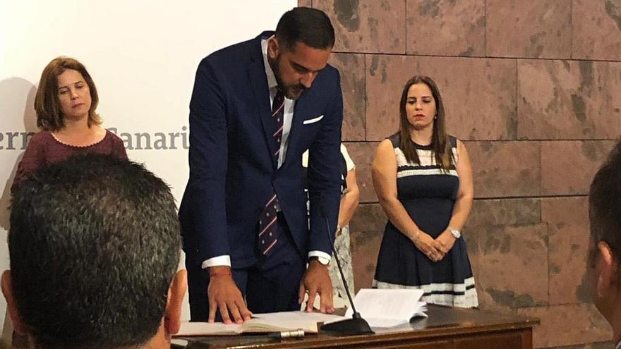 Kilian Sánchez durante su toma de posesión.