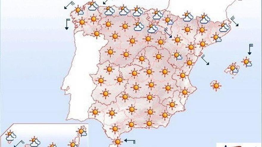 Mañana, temperaturas en ascenso salvo en el litoral mediterráneo