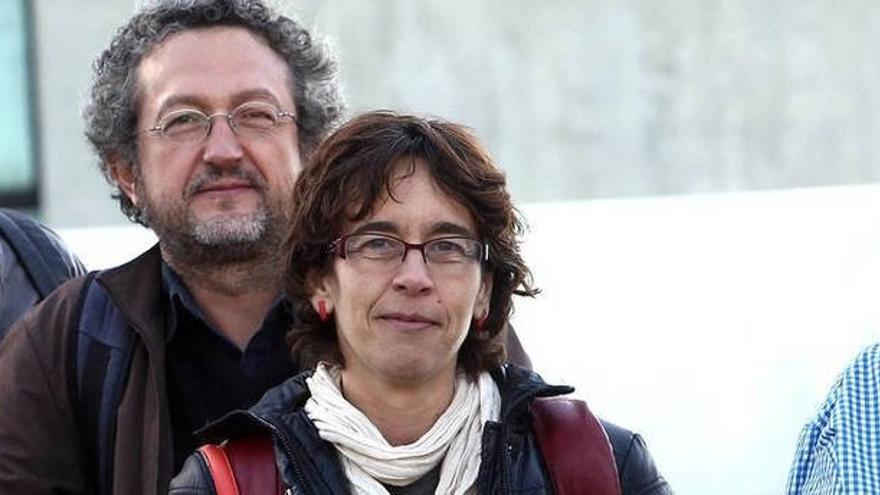 Los cineastas Clemente Bernard y Carolina Martínez.