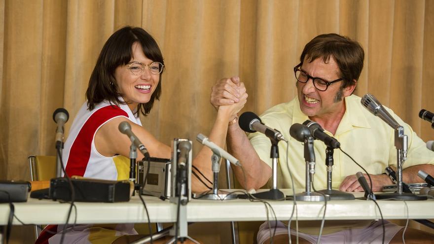 Emma Stone y Steve Carell, en uno de los fotogramas de 'La batalla de los sexos'