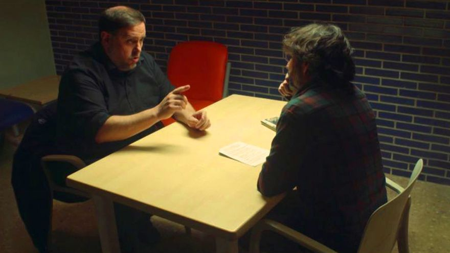 Oriol Junqueras y Jordi Évole, en su entrevista en laSexta