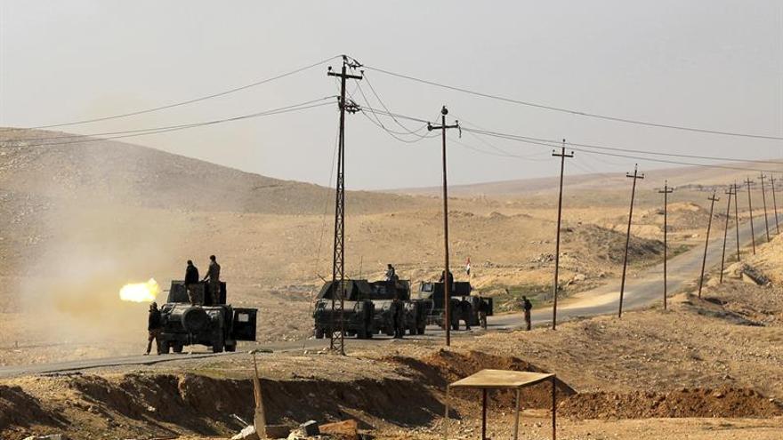 Fuerzas iraquíes lanzan una operación para recuperar un municipio en manos del Estado Islámico