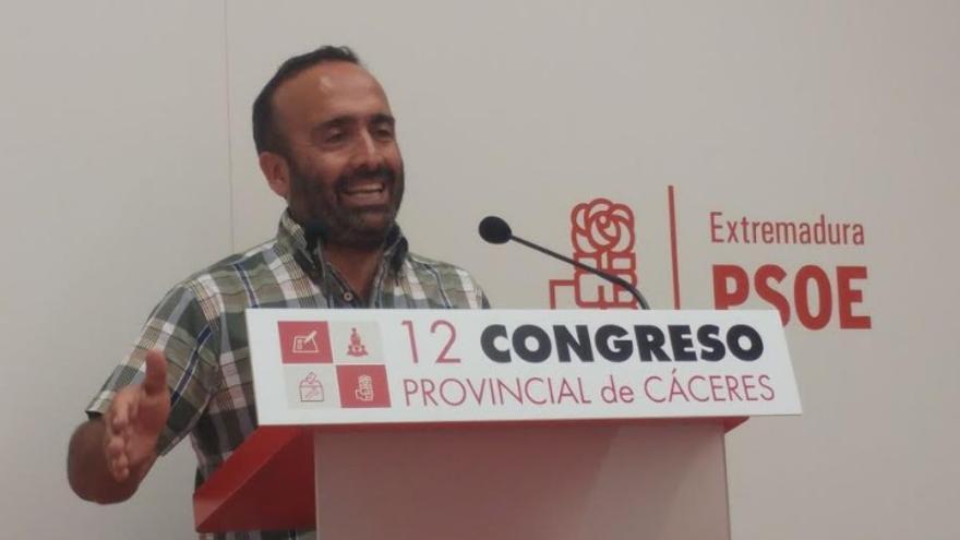 Morales, en el congreso provincial de Cáceres