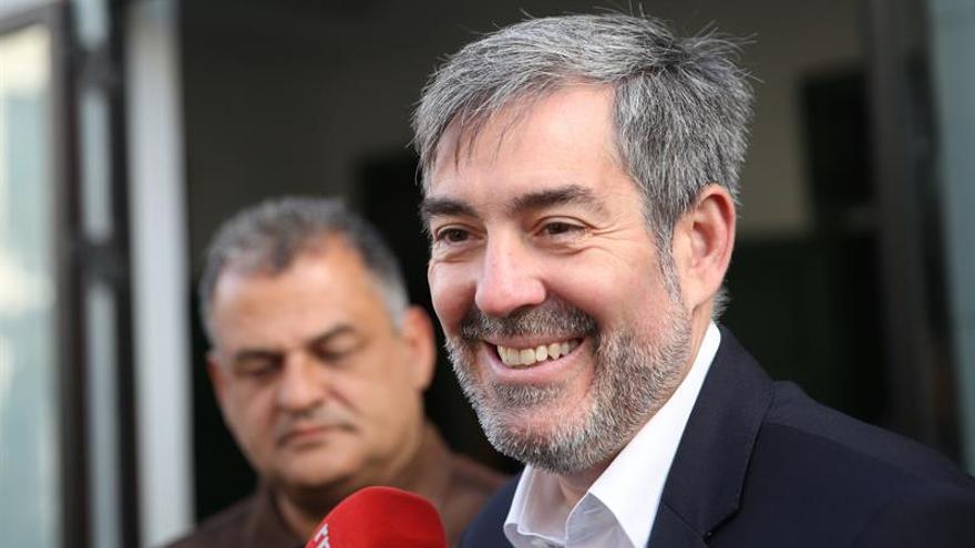 El presidente del Gobierno de Canarias, Fernando Clavijo, y el alcalde de La Laguna, José Alberto Díaz.
