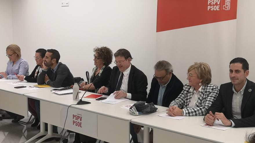 Un momento de la reunión de la ejecutiva nacional del PSPV.