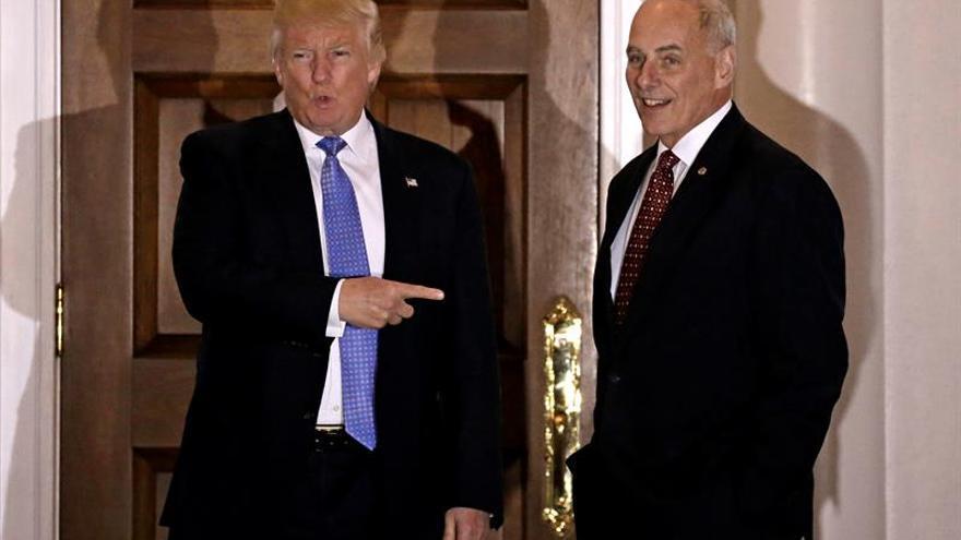 Trump confirma la nominación del general Kelly para dirigir la Seguridad Nacional
