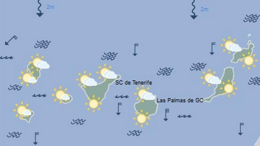 Mapa de la previsión meteorológica de la Aemet para el viernes 14 de julio
