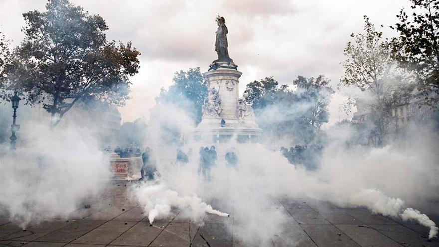 Al menos 15 heridos y 62 detenciones en las marchas contra la reforma laboral en Francia