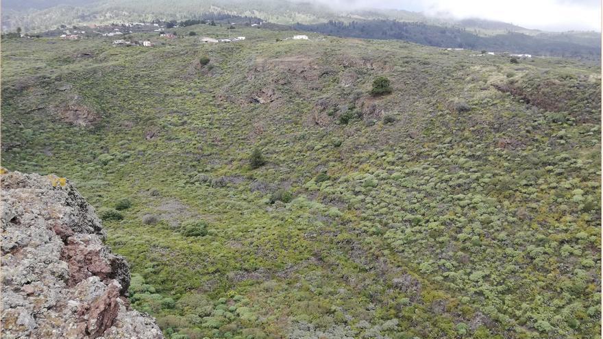 Panorámica de La Caldereta, en Tiguerorte,  en la zona de costa de Villa de Mazo.