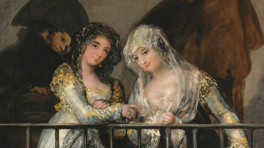 Majas en el balcón, de Francisco de Goya