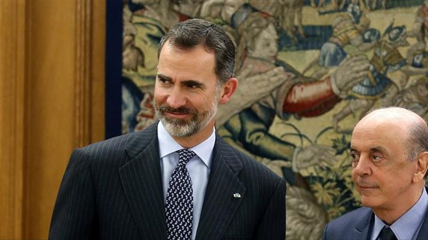 Felipe VI trata con el ministro brasileño de Relaciones Exteriores la cooperación bilateral e iberoamericana