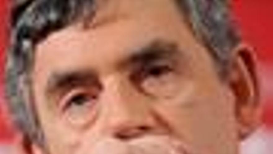 Primer plano de Gordon Brown