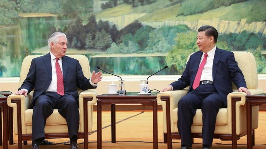 Xi y Tillerson coinciden en mantener una relación bilateral positiva
