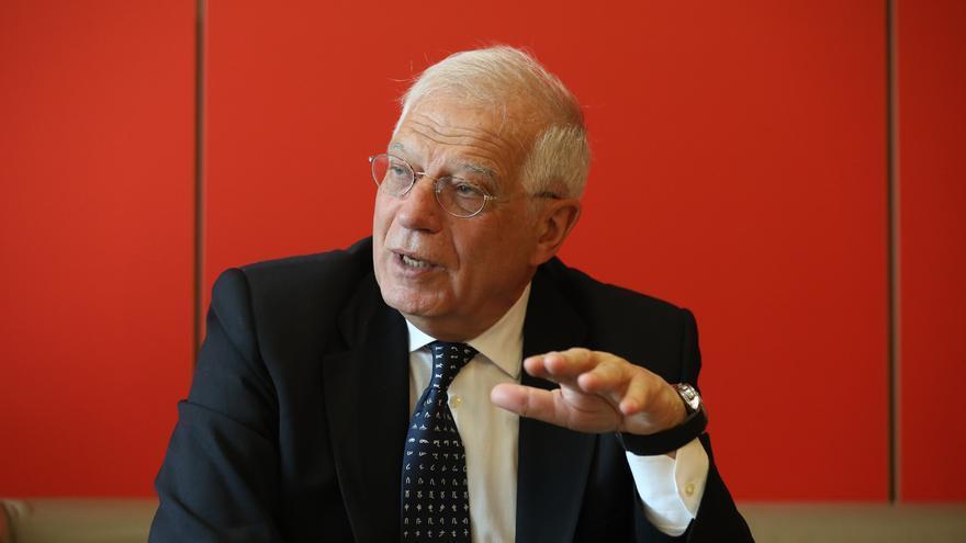 El ministro de Exteriores y cabeza de lista del PSOE a las europeas, Josep Borrell.