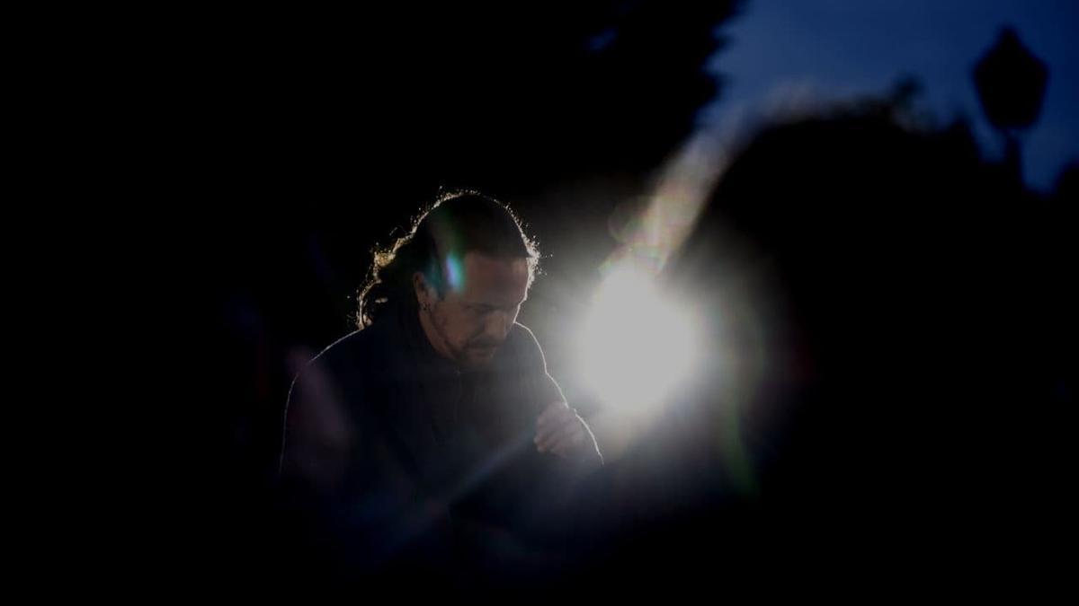 Pablo Iglesias, en el acto de cierre de campaña en Vicálvaro, el pasado 2 de mayo de 2021.
