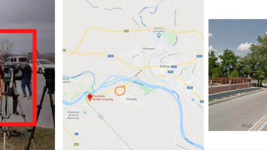 Cartel naranja en Google Maps