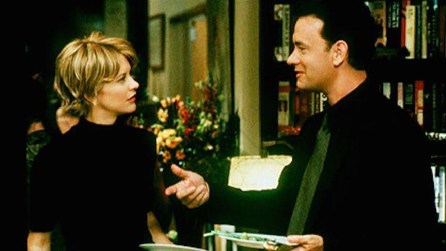 Meg Ryan y Tom Hanks en 'Tienes un e-mail'