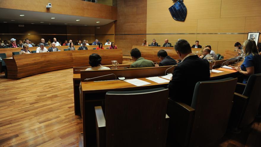 Imagen del pleno de la Diputación de València de este martes