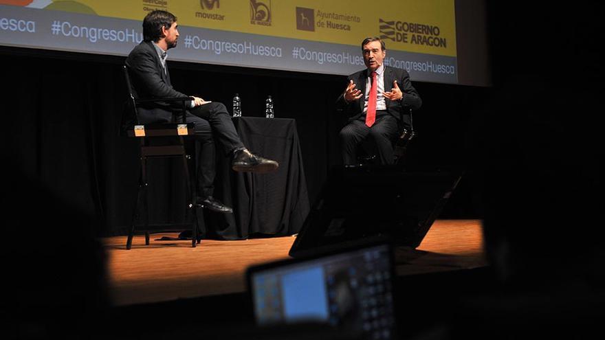 Conversación entre Ignacio Escolar y Pedro J. Ramírez en la pasada edición del Congreso.
