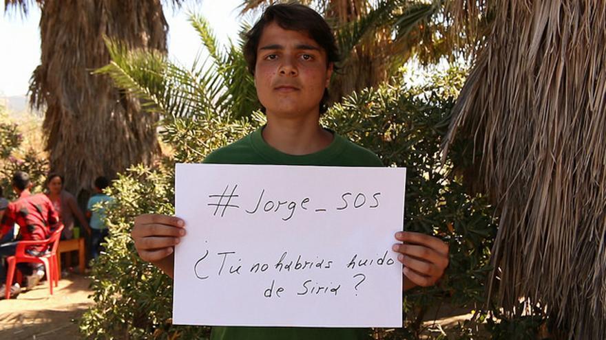 Fotograma de la campaña de Avaaz para que el Gobierno de España acepte el acuerdo del reparto de refugiados en la UE.
