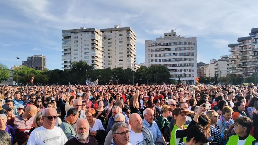 Concentración de protesta contra la sentencia del 'Caso Altsasua' en Pamplona