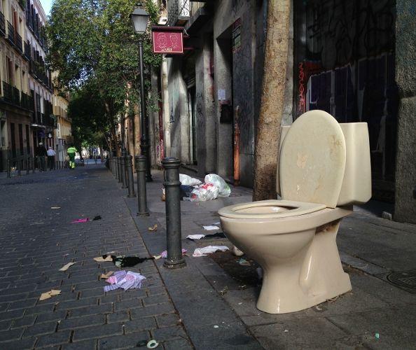 Imagen tomada el 12 de septiembre, a las 10:12 de la mañana, en la calle Velarde | Foto: Alejandro Castella