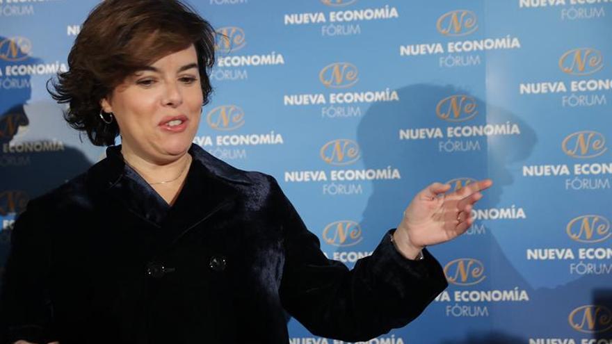 La vicepresidenta del Gobierno en el Fórum Nueva Economía