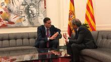 """Sánchez y Torra acuerdan buscar una solución política con """"amplio apoyo en Catalunya"""" y con """"seguridad jurídica"""""""