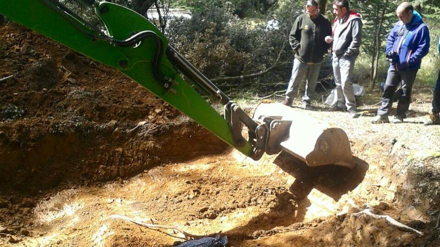 Un momento de la excavación / Foto: Ayuntamiento de Berriozar.