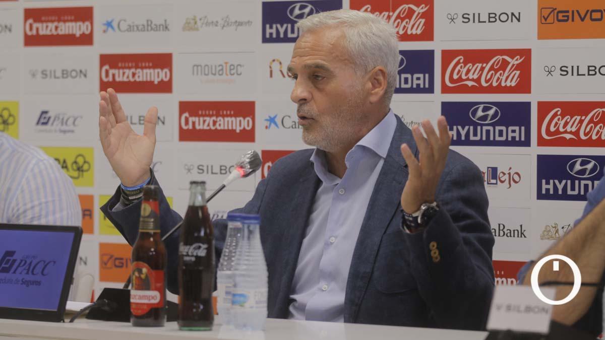 Miguel Valenzuela, en su adiós al Córdoba