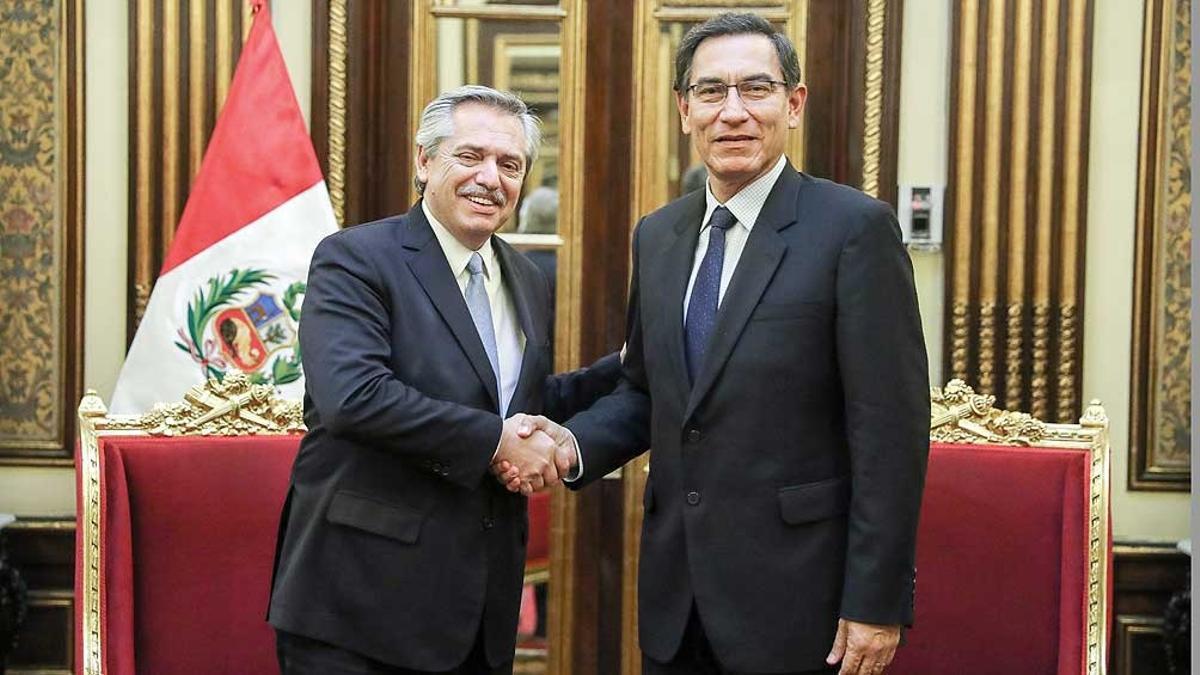 Alberto Fernández fue por última vez a Perú en septiembre de 2019, cuando él era candidato a Presidente y el mandatario del país vecino era Martín Vizcarra.