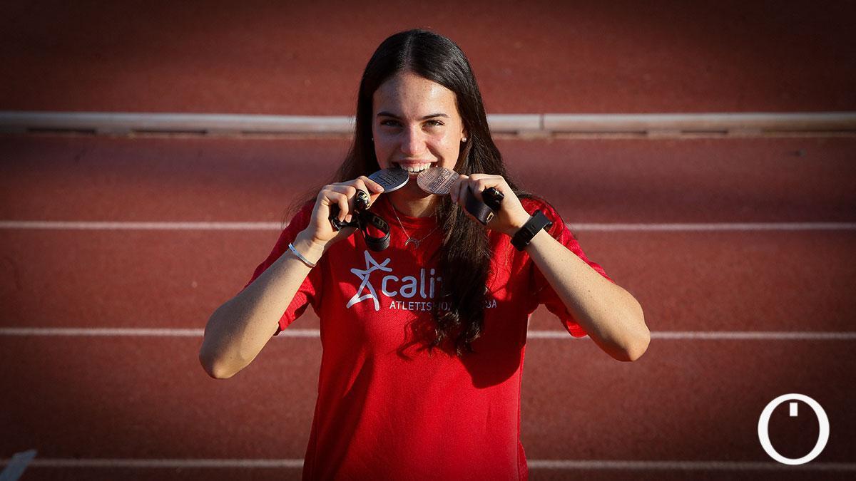 Carmen Avilés, doble subcampeona de España absoluta