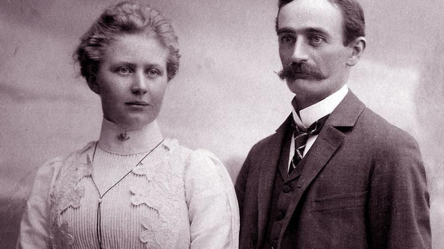 Elisabeth Christ y Friedrich Trump // Wikipedia