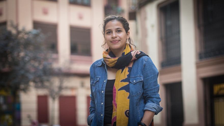 Amaya Coppens, estudiante opositora al régimen nicaragüense, en Zaragoza.