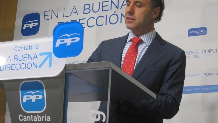 """Diego dice que las cuentas del PP cántabro están """"limpias"""" el día en que sientan al PP en el banquillo por las 'cajas B'"""