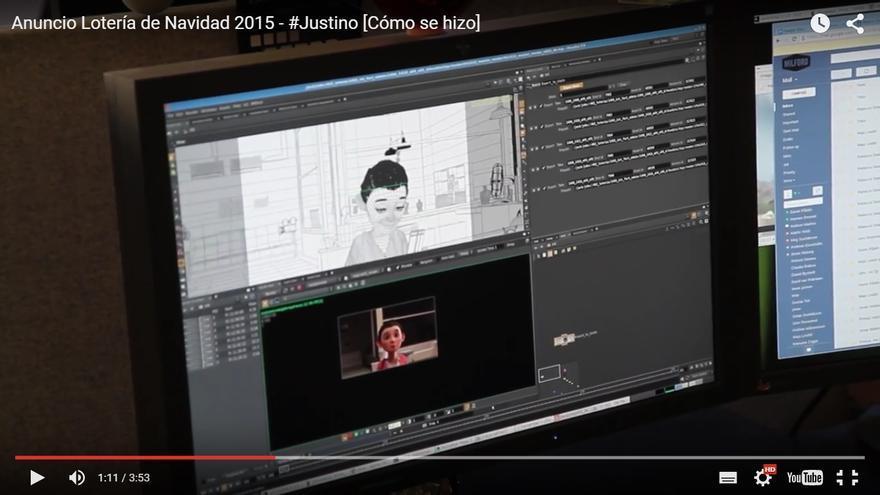 El logotipo de la empresa sueca de animación Milford aparece en el 'making of' del anuncio