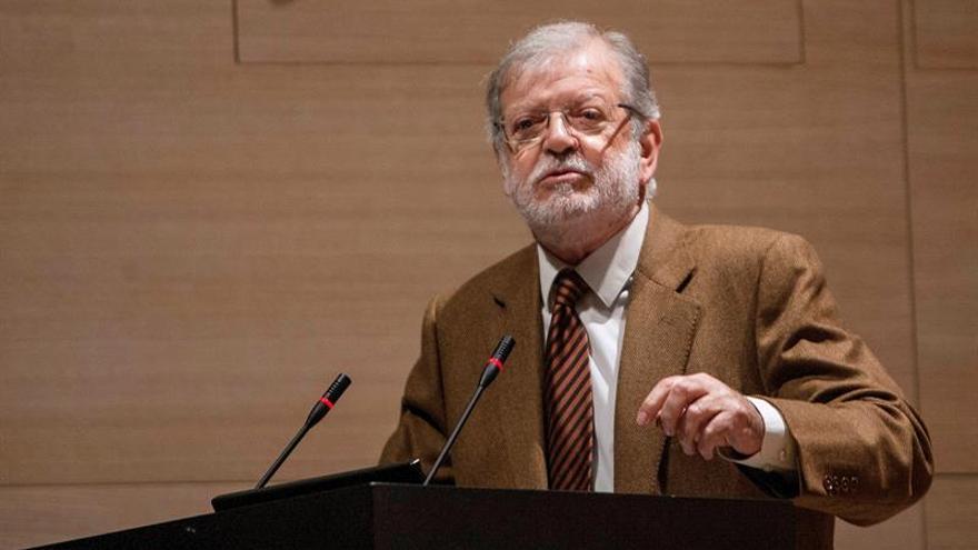 El expresidente de Extremadura, Juan Carlos Rodríguez Ibarra, durante una intervención pública.