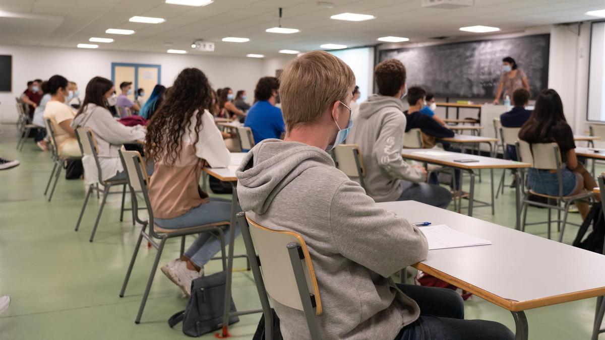 Imagen de archivo de una clase en este curso escolar