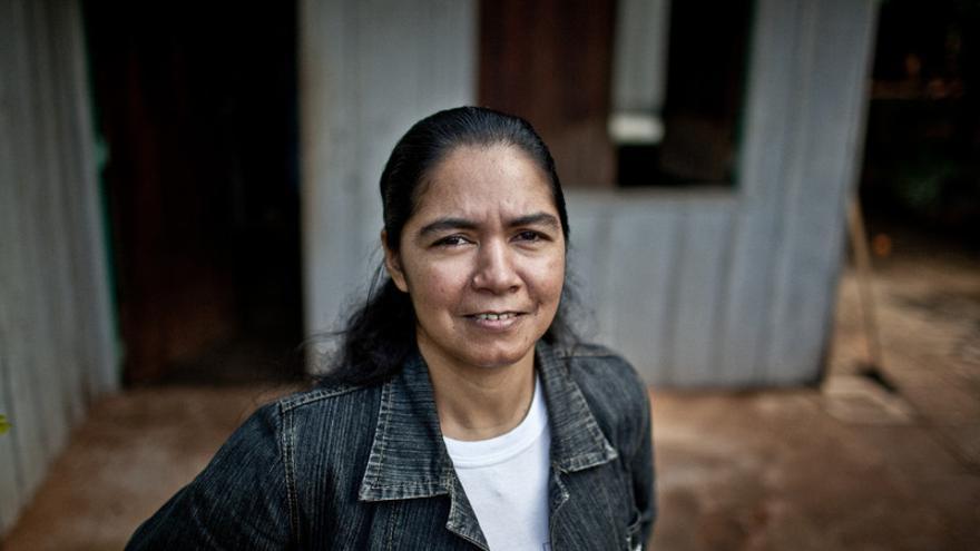 La activista paraguaya Perla Álvarez. FOTO: Pablo Tosco/Intermón Oxfam