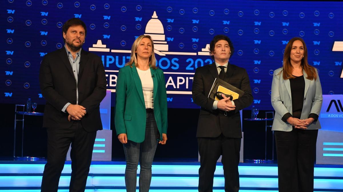 Los cuatro candidatos del debate