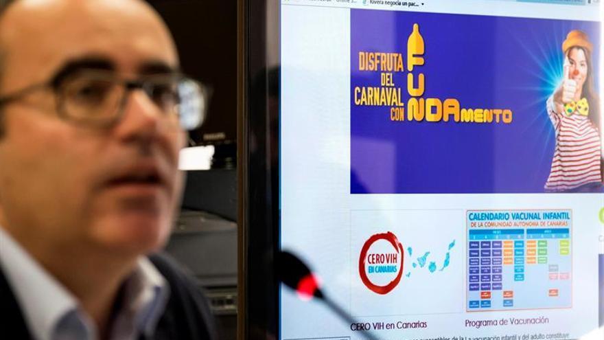El director general de Salud Pública del Servicio Canario de la Salud, Ricardo Redondas, presenta la campaña 'Disfruta con FUNDAmento'.