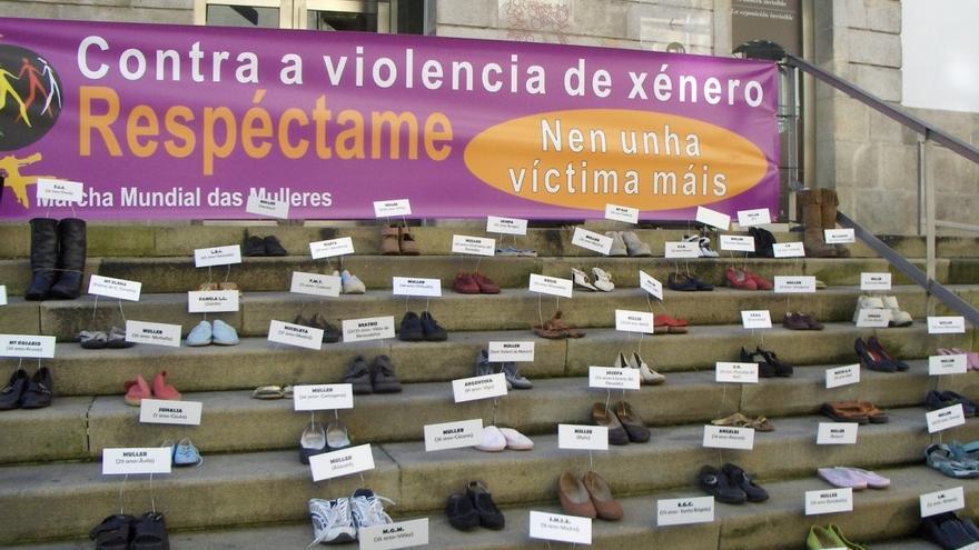 Acto simbólico de la Marcha Mundial das Mulleres en Vigo