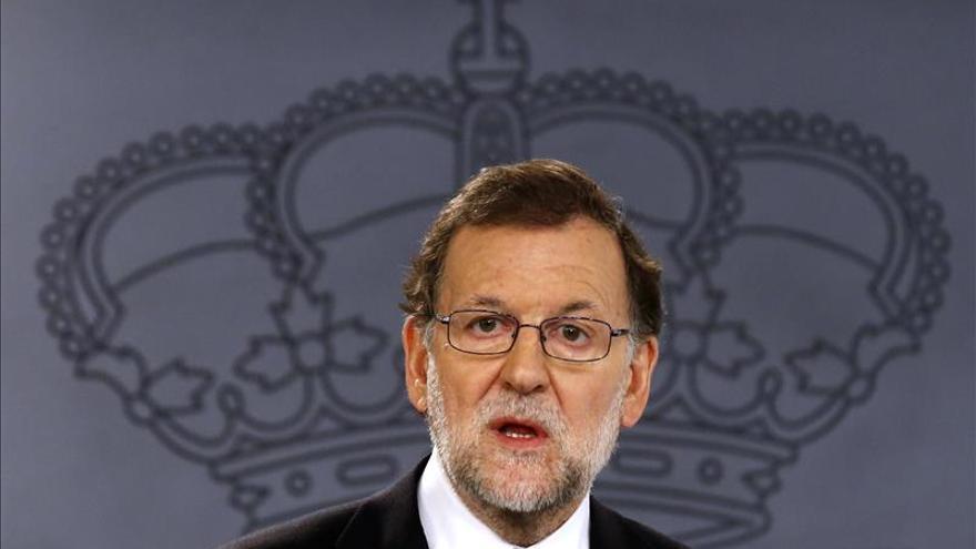 Mariano Rajoy, en una comparecencia en la Moncloa.