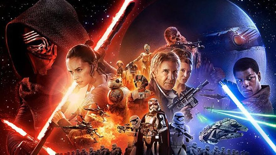 El póster oficial de 'Star Wars: The force awakening'