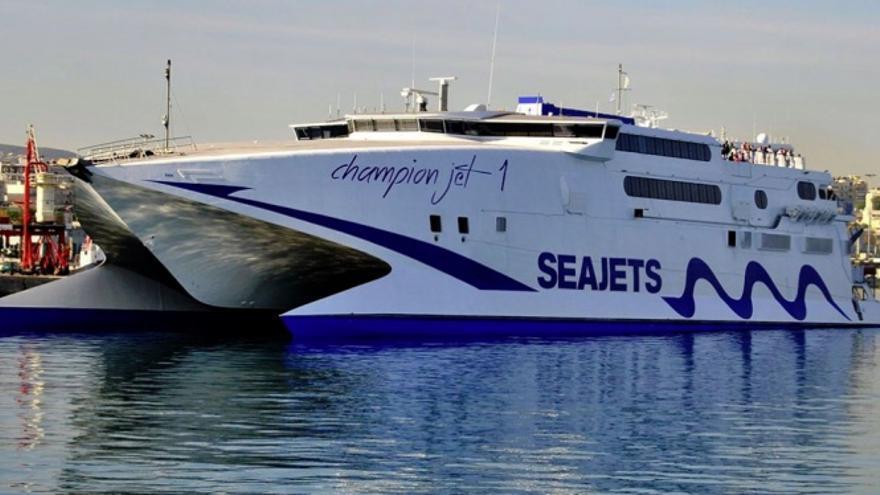 En la imagen, el catamarán 'Champion Jet 1'.