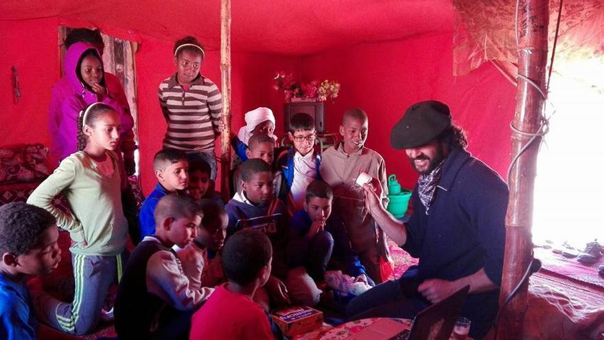 Niños y niñas saharauis.