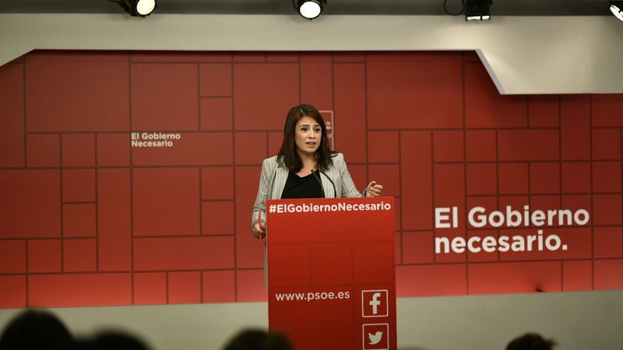 La número dos del PSOE, Adriana Lastra.