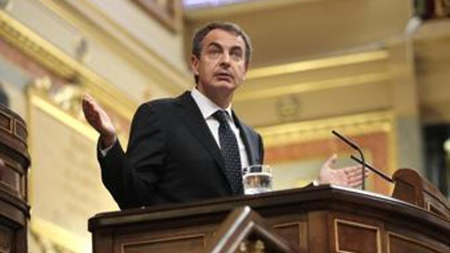 Presidente del Gobierno, José Luis Rodríguez Zapatero, en el Congreso