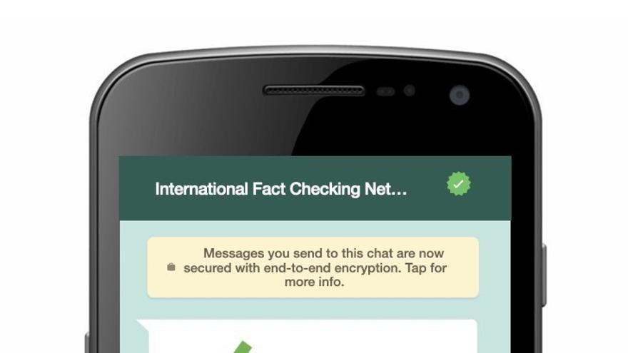 Menú de navegación para interactuar con el chatbot de la IFCN.